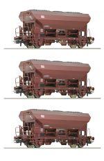 Set 3 vagoane marfa cu autodescarcare Ba Fcs, DB AG