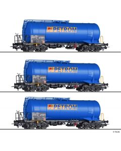 Set vagoane cisterna PETROM,  tip Zas, CFR