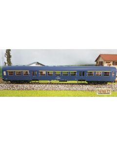 """Vagon clasa I """"suburban"""" epoca IVb -Va  in varianta albastru indigo"""