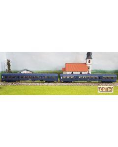 "Set vagoane  ""suburban"" epoca IVb -Va  in varianta albastru indigo"