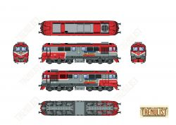 Locomotiva diesel DA CFR Marfa 92 53 0 600934-9, analogica.