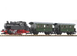 Set start gradina scara G cu locomotiva cu abur BR80 si 2 vagoane persoane