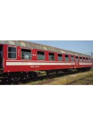 Vagon cuseta Ex. DB, tip Bcm, CFR, versiunea rosie