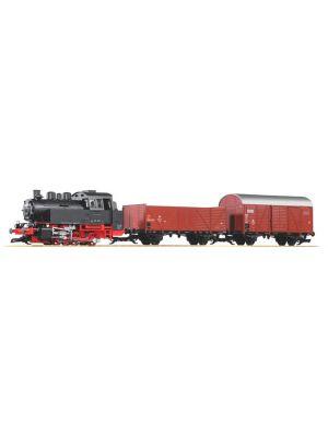 Set start gradina scara G alcatuit din locomotiva cu abur BR80 si 2 vagoane de marfa