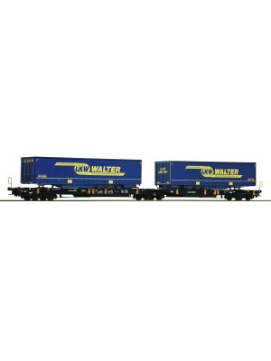 Vagon dublu transport remorci LKW Walter, Wascosa