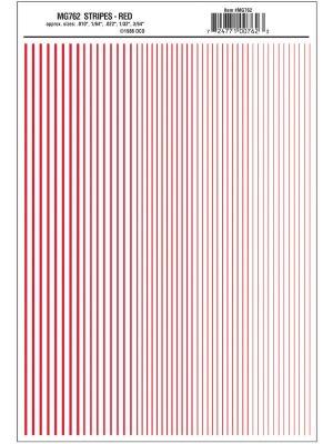 Folie dungi decal,rosii (1/64'',1/32'',3/64'')