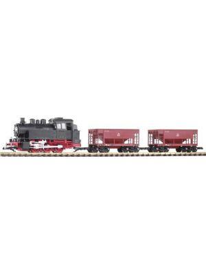 Set start gradina scara G alcatuit din locomotiva cu abur BR80 si 2 vagoane marfa