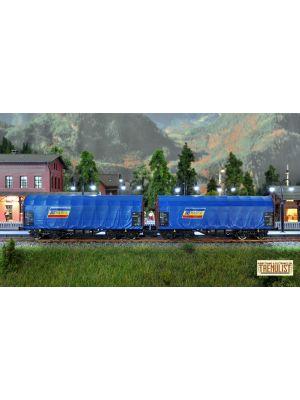 Set 2 vagoane CFR Marfa Shimmns albastre